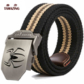 14COLORS Canvas strap male automatic buckle belt outdoor casual pants belt for men 110/120/130/140/160cm tactical belt