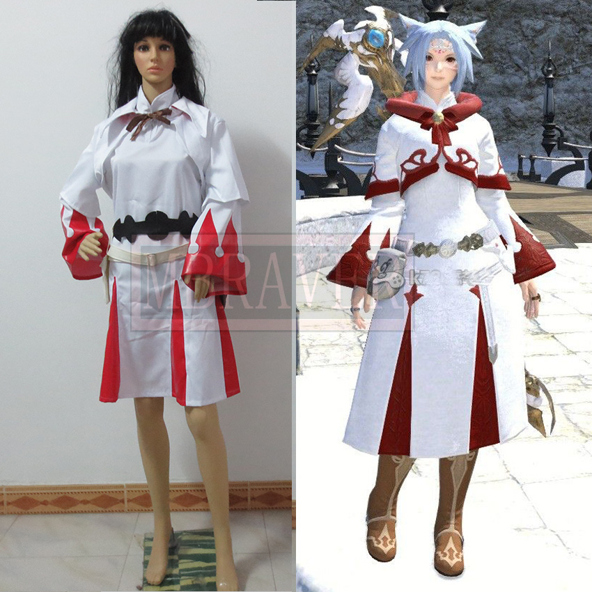 Custom Made Final Fantasy XIV 14 White Mage font b Cosplay b font Outfit Adult Halloween