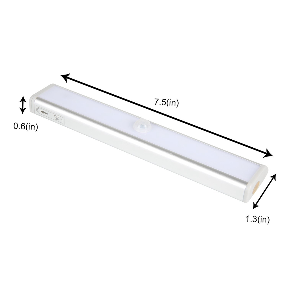 LumiParty New Arrival 10LED Wireless Motion Sensing Closet Cabinet LED Night Light Battery Operated Lights with Magnetic