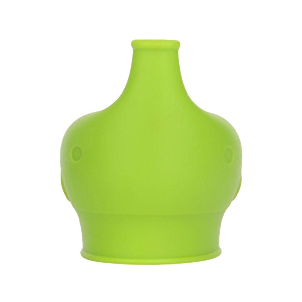 Сиппи открывающаяся крышка Силиконовая Стекло чашки ребенка поставить защита от проливов питья силиконовая крышка детские бутылочки Кепки аксессуары для бутылок - Цвет: green