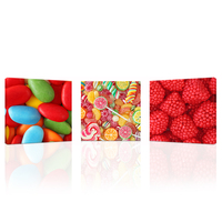 Wall Art 3 Pieces I Love Sweet Candies Canvas Art Print Bon Appetite Wall Picture For