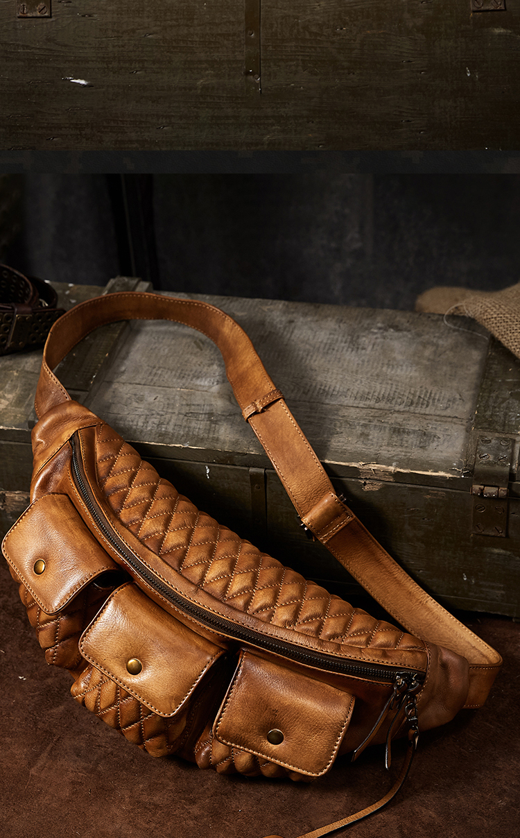 Genuine Leather Waist Packs Fanny Pack Belt Bag Phone Pouch Bags Travel Waist Pack Male Heuptas Waist Bag Leather Pouch