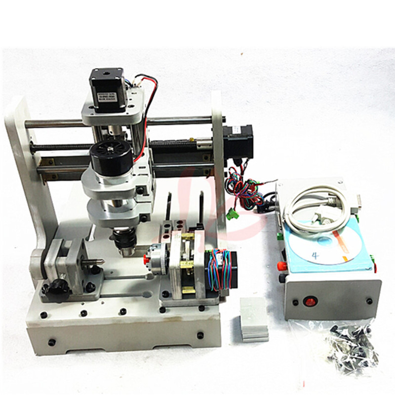 Cheap mini cnc router 300w cnc engraver woodworking lathe with rotary axis , no tax to EU  цены