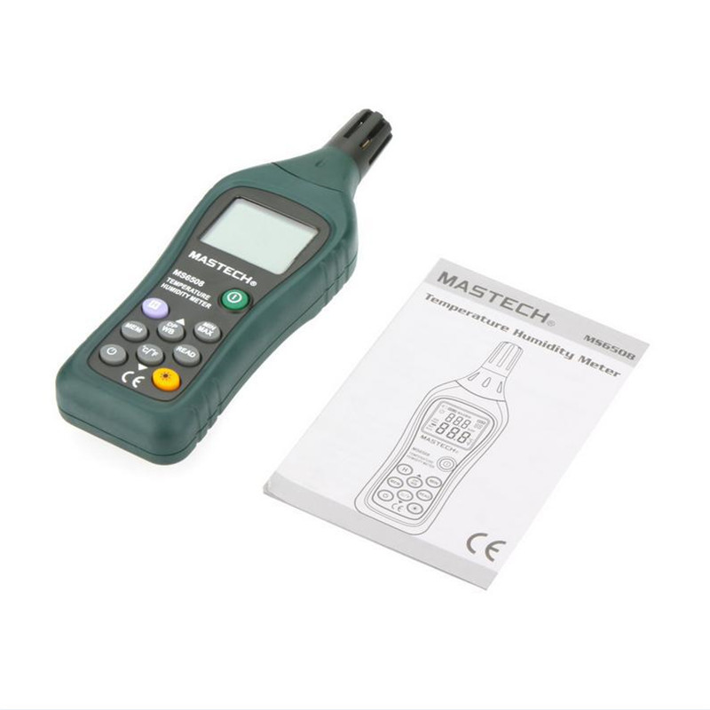 MASTECH MS6508 Thermo-hygrometer Digital Temperature Humidity Moisture Meter Tester Thermometer ht 86 digital thermometer hygrometer wet bulb dew point temperature meter o0s0