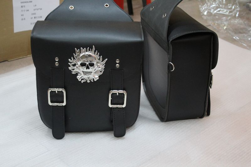 цена на Motorcycle side bag FOR big turtle king small turtle FOR skull head ghost head side bag side box bag kit saddle bag