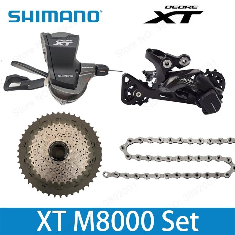 SHIMANO DEORE XT M8000 1x11 11S Speed 11-40T 11-42T 11-46T Groupset Contains Shifter Lever & Rear Dearilleur & Cassette & Chain shimano slx m7000 1x11 11s speed 11 42t 11 46t groupset contains shift lever