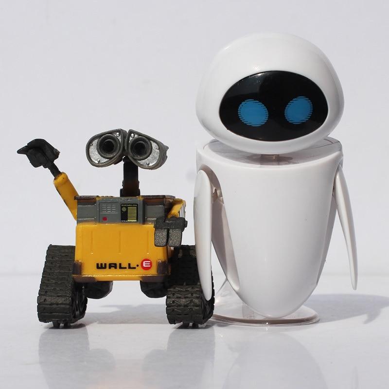 6cm wall e robot 9cm eve pvc action figure wall e collection model