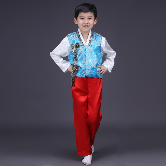 0bce4ab7b1 Boy Korean Traditional Costumes Children Hanbok Clothing Korean Ancient  Costume Children Performance Dance Clothes