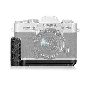 Image 4 - Meike XT20G אלומיניום סגסוגת יד אחיזה שחרור מהיר צלחת סוגר L Fujifilm X T20 X T10 XT 20 מצלמה
