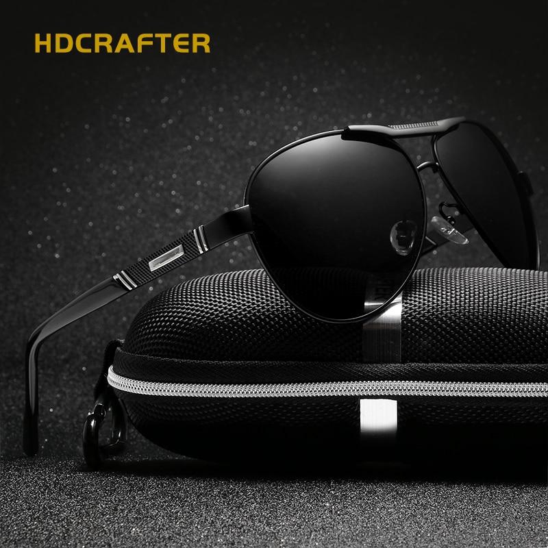 HDCRAFTER Mannen Klassieke Merk Luchtvaart Gepolariseerde Zonnebril - Kledingaccessoires
