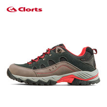 Clorts Men Hiking Sneakers Low cut Sport Shoes Breathable Hiking Shoes Men Athletic Outdoor Shoes for