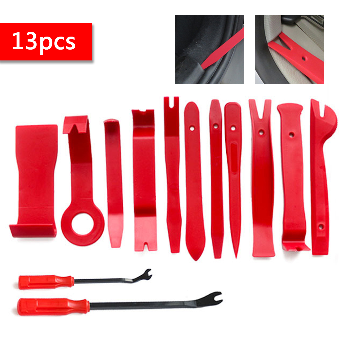 13pcs Pry Disassembly Tool Interior Door Clip Panel Trim Dashboard Removal Tool Auto Car Opening Repair Tool Hand Tool Kit cutting mat