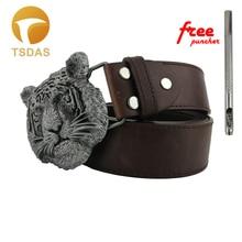 6e504a91a Super Cool 3D Style Boys Tiger Head Carved Metal Belt Buckle Suitable For  4cm Width Belt