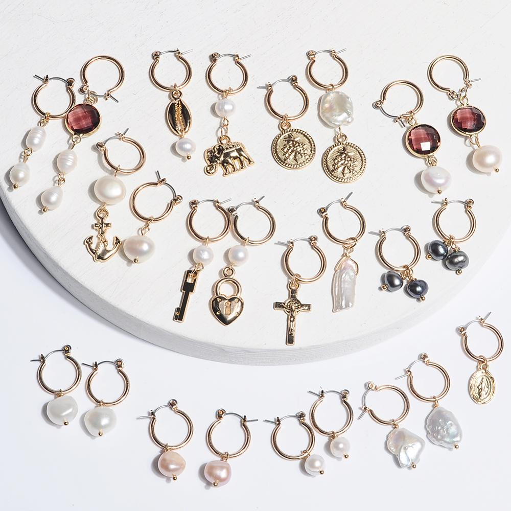 Pearl Hoop Earrings Gold Hoops For Women Small Jewelry