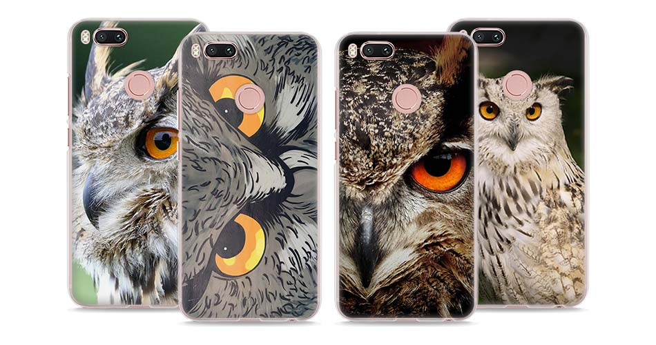 Bird Eagle Animal Owl Night Style Clear Hard Mobile Phone Shell Case For Xiaomi Mi 6 5X 5S For Redmi 4X 4A Note3