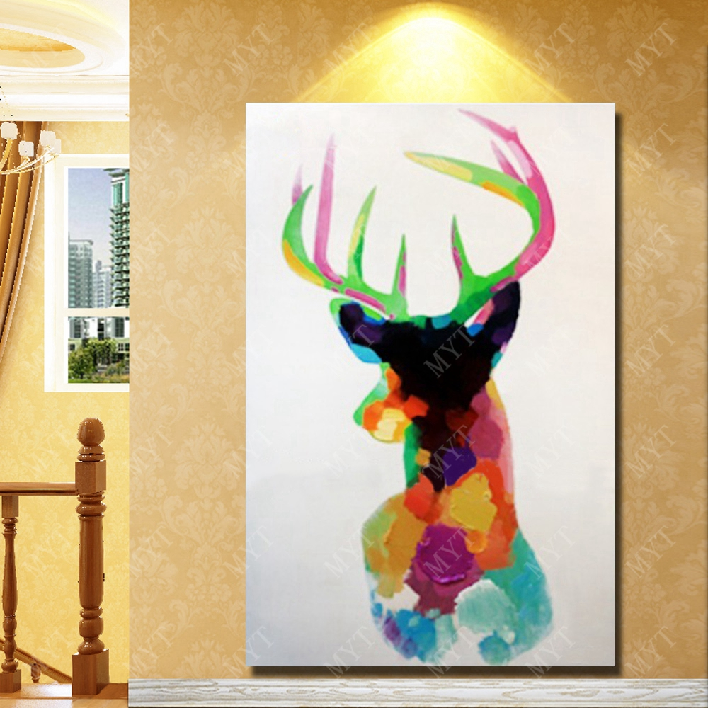 Wild animal wall art painting deer wall decoration mass production ...
