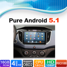 Pure Android 5.1.1 System Car DVD GPS Navigation System for Hyundai IX25 2015