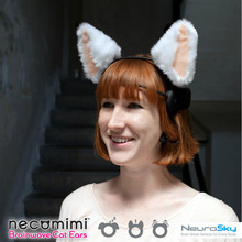 Original Necomimi Cat Bunny Ears Theaddress Brainwave Sensor Halloween Electronic Toys with Free Shipping