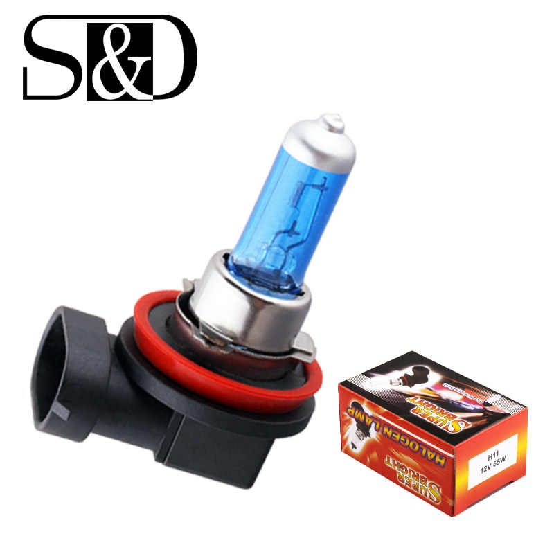 Halogen Bulb Car Fog Lights Super White - H11 H7 H4 H3 H1 H8 HB3 HB4 9005 9006 Halogen Bulbs - 55W 12V 24V Headlights Lamp D030