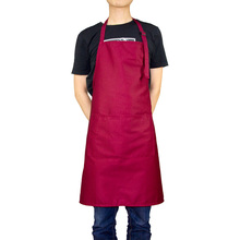 2019 Korean Aprons for Woman Waitressing Apron Dress Adjustable Neck with 2 Pockets 10 Color Long Pinafore