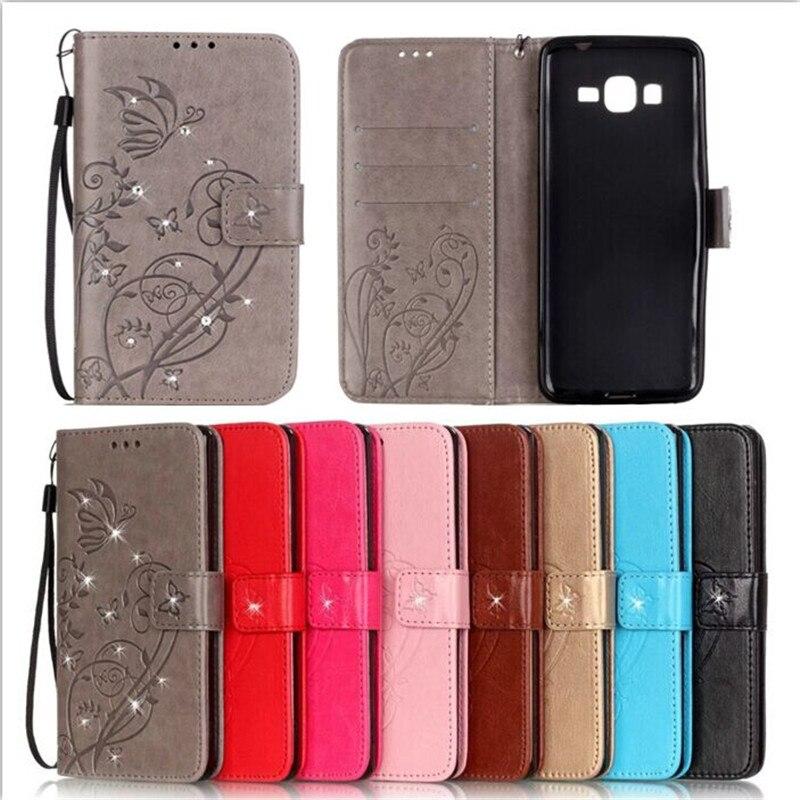Luxury Fashion PU wallet Case Diamond Holster Case Cover for Samsung Galaxy A3 A5 J3 J5 J7 2015 2016 S3 S4 S5 S6 S7 Edge S8 Plus