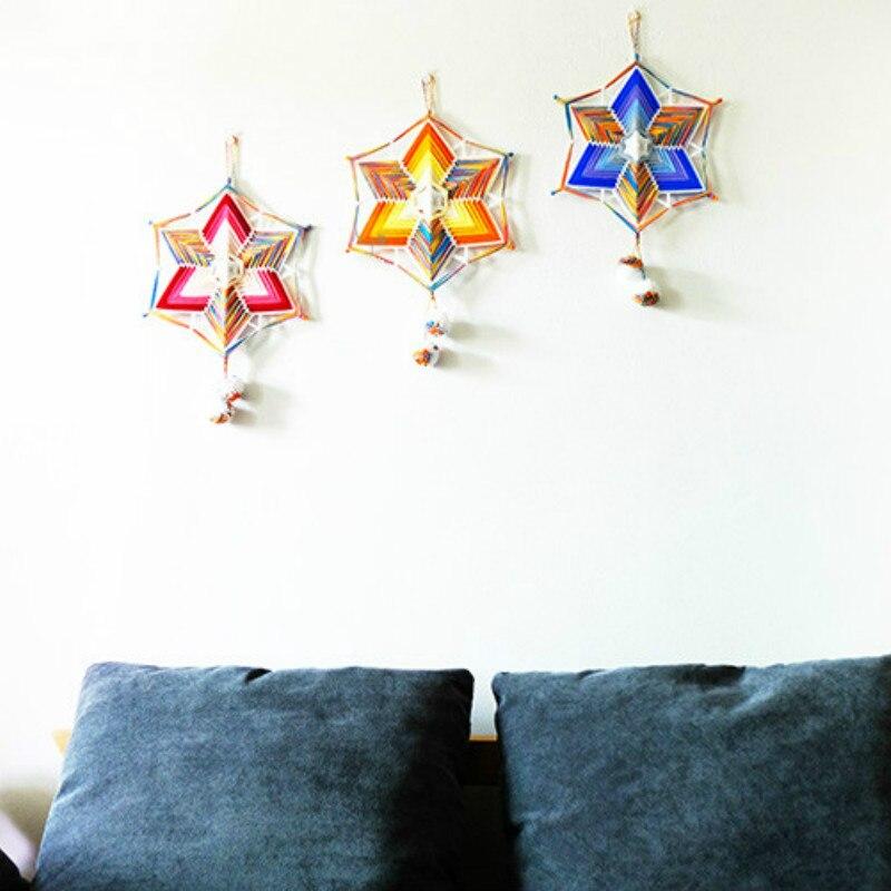 Enroulement Mandala macramé tenture murale tissé à la main œil de dieu décoration nordique Ins maison décoration murale capteur de rêves carillons éoliens
