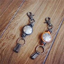 טבעת מפתח עור עבודת יד אמיתי ארנקים ארגונית אספן סוכנת בית רכב מפתח מחזיקים מפתחות חכמים עבור מתנה