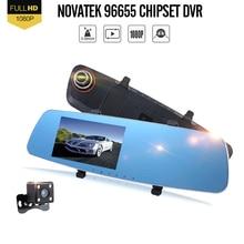 Big sale Zeepin Novatek 96650 Car DVR+Backup Lens Digital Video Recorder Auto Rear-view Mirror Car Dvr Dual Lens Camera Registrar
