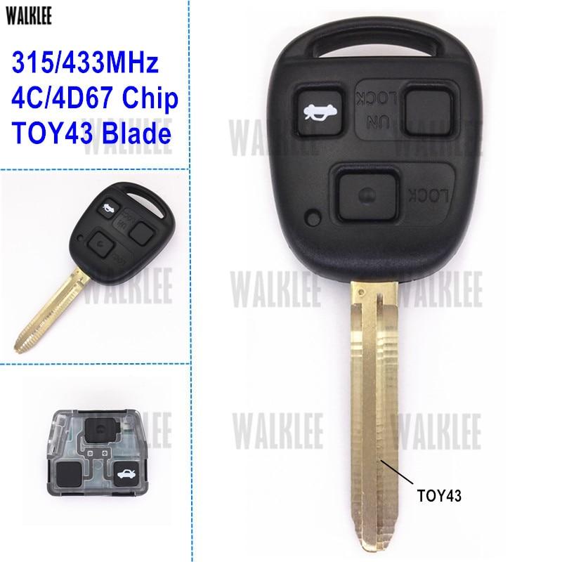 BRAND New OEM Toyota RAV4 Remote Head Key 3B GQ4-52T H Chip