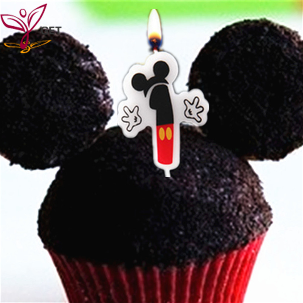 Party Candle 1 About Mickey Mouse Birthday Cake Supplies Anniversary Numbers Age Baby Shower Decoration