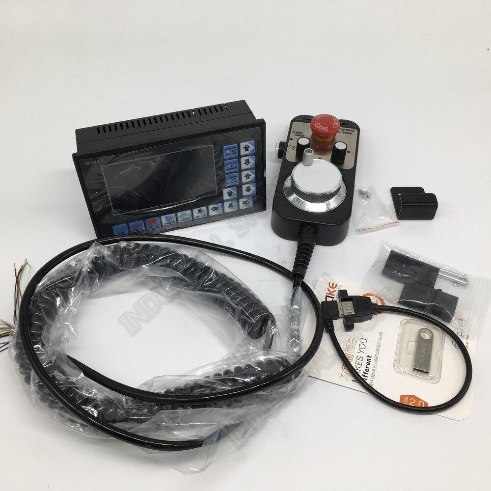 Contrôleur de mouvement CNC 3 axes G Code Mach3 système d'interface USB hors ligne + volant MPG pour routeur de fraisage de servomoteur pas à pas