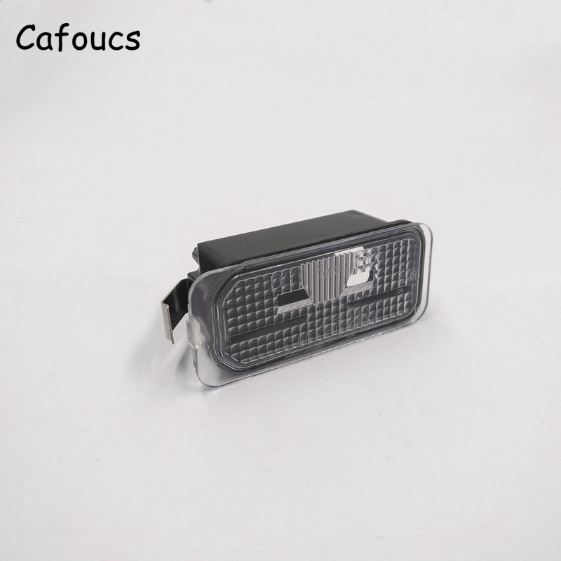 Cafoucs For Ford Mondeo 2007-2010 Car Rear License Plate Light Without bulbs For Fiesta S-max 7S7113550AB