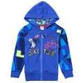 BLUE bike boys hoodies zipper children's wear baby sweatshirts clothes new year sports suits baby kids cotton clothing