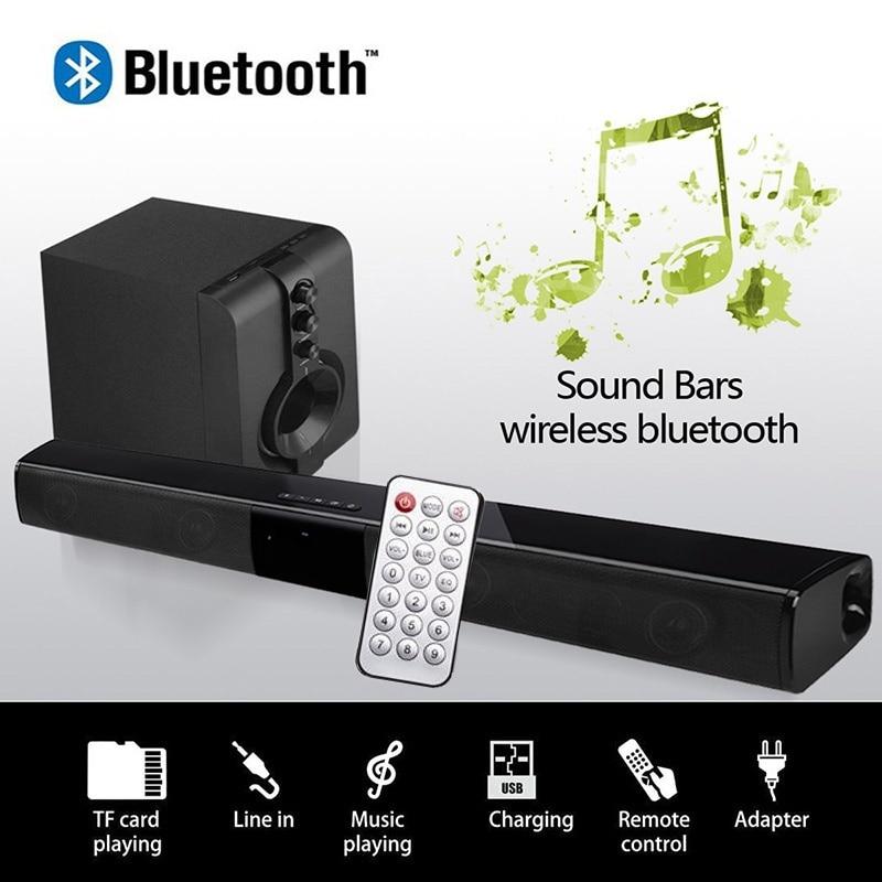 20W Bluetooth Speaker Column Computer TV Sound Bar 4 Speakers USB AUX Audio Line FM Radio MP3 Music Player Boom Box With Remote