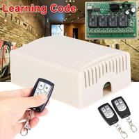 DC 12V 4CH Small Channel Wireless Remote Control Controller Radio Switch 433mhz 200m Transmitter Receiver