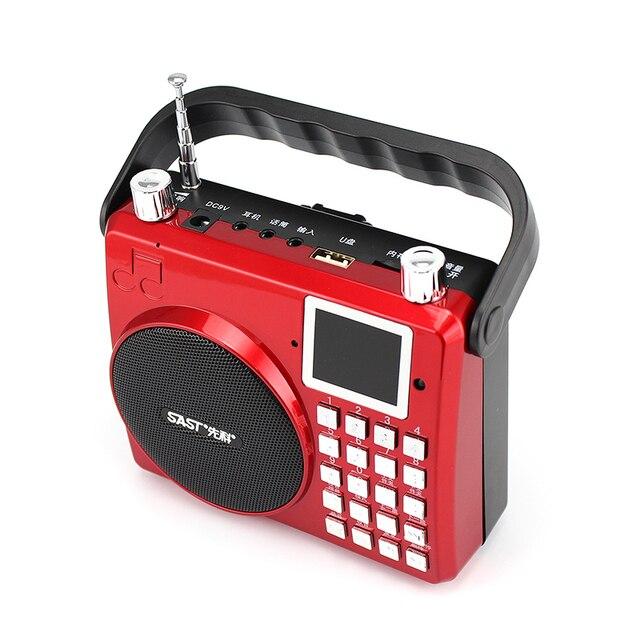 Высокое Качество многофункциональный Цифровой Портативный Fm-радио Приемник, Поддержка U Диск TF Карта MP3 Музыкальный Плеер, AUX Динамик С Ручкой