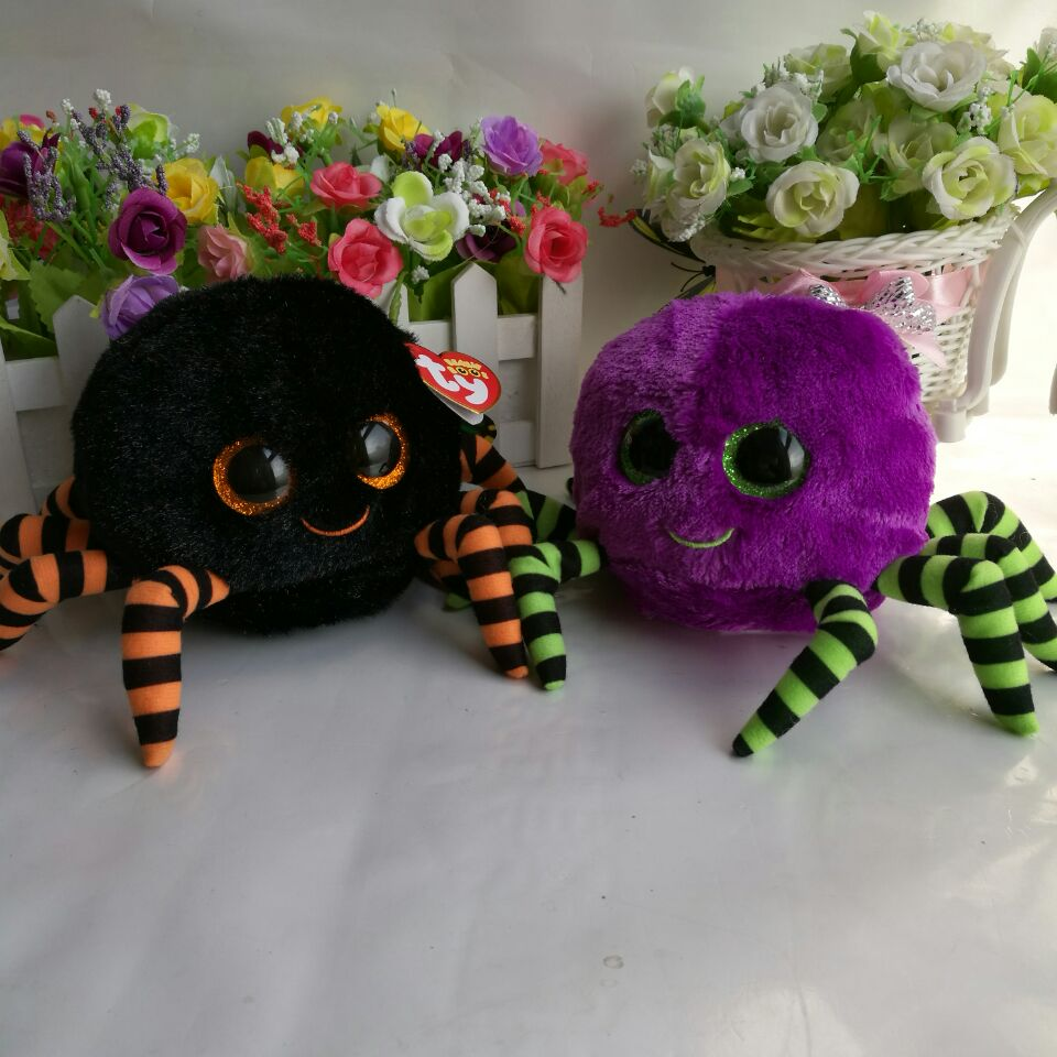 Crawly Halloween Assorted Spider Boo Ty Plush Toy Stuffed