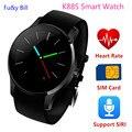 La nueva moda K88S Bluetooth reloj inteligente tarjeta SIM tarjeta de teléfono monitoreo de la frecuencia cardíaca relojes inteligentes