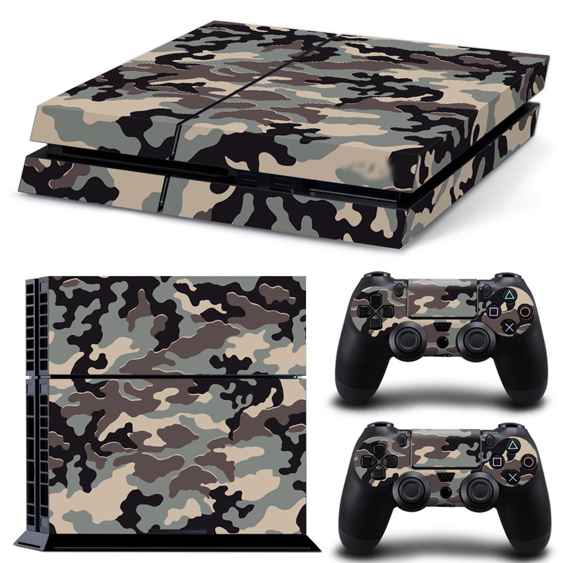 Free drop shipping Camos Custom Sticker Decal Skin Cover for PS4 Console and Two Controller Decals  #TN-P4-0235