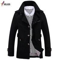 Korean Overcoat 5 Colors British Style Slim Fit Trench Coat Long Men New Autumn 2017 Man