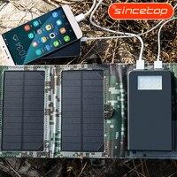 5 Watt hohe Effizienz Faltbare Sunpower Solarpanel Ladegerät Dual Ausgang Solar Power Bank Camping Ladegerät für Handy