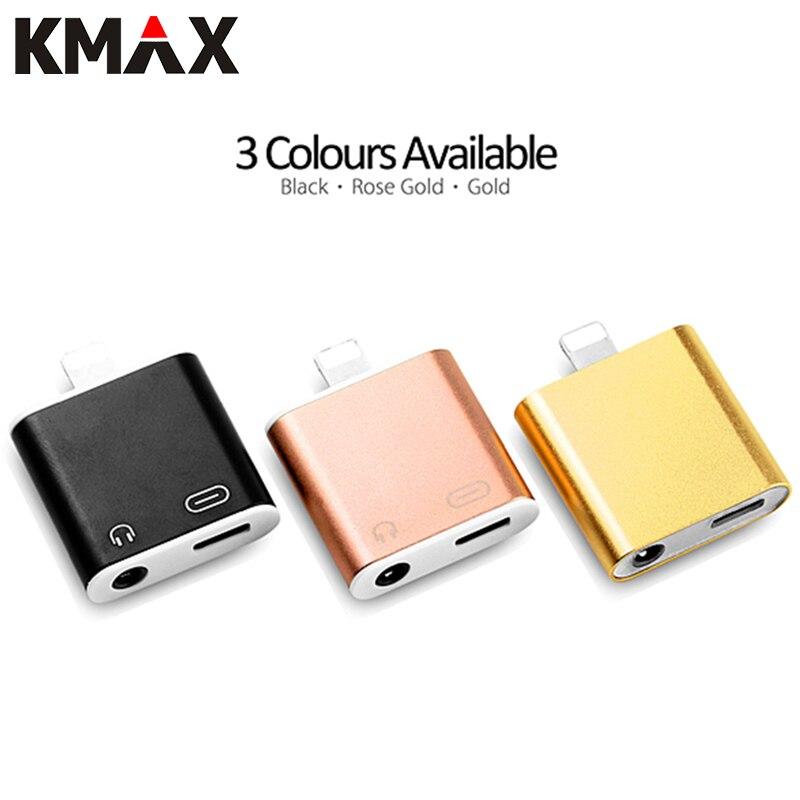 imágenes para KMAX 2 en 1 Rayo de 8 Pines a 3.5mm Para Auriculares Auriculares Jack Conector del Adaptador del Divisor de Audio + Cargador para Apple iPhone 7 Plus 7