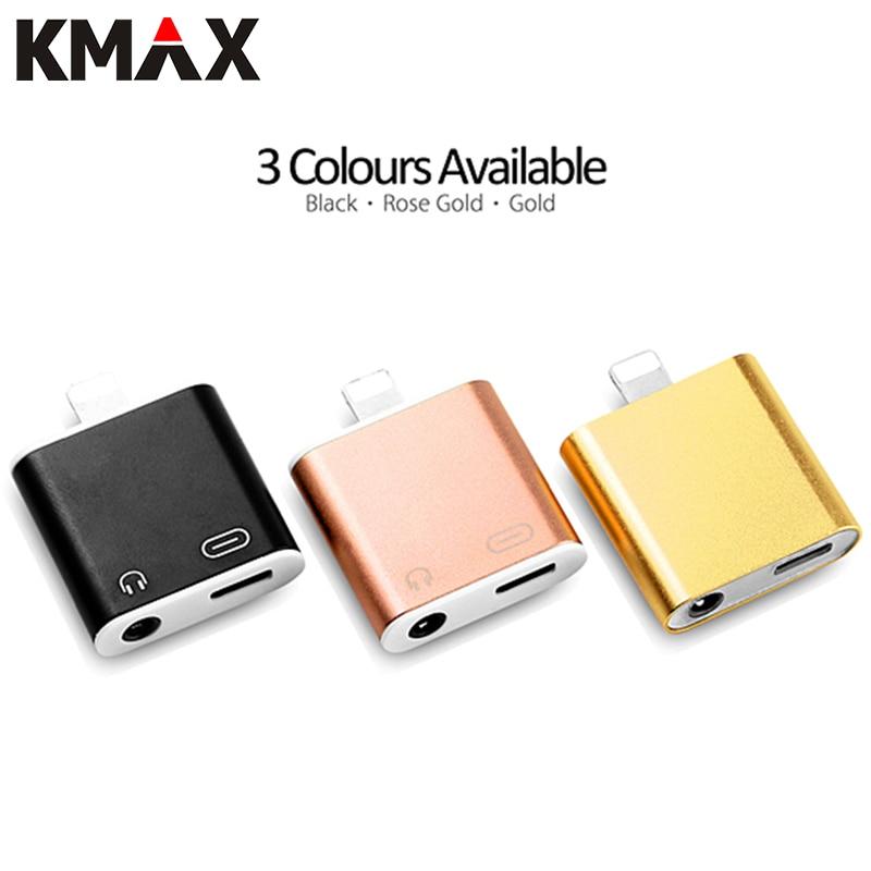 bilder für KMAX 2 in 1 8 Pin Blitz zu 3,5mm Kopfhörer Headset Jack Audio + Ladegerät Adapter für Apple iPhone 7 7 Plus