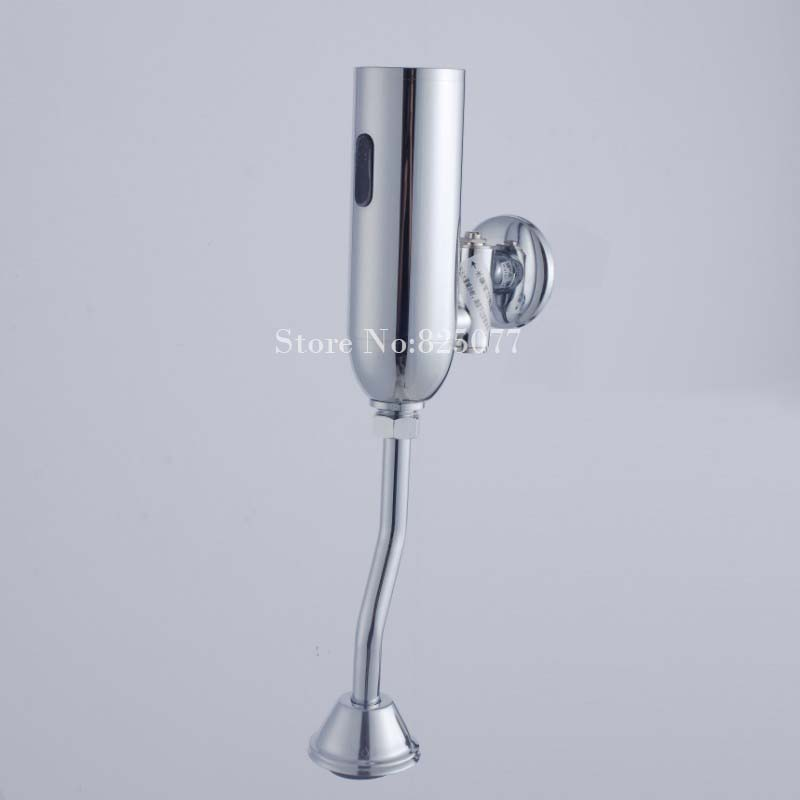 1PCS Toilet Urinal Flush Valve Infrared Touchless, Polished Chrome Sensor Flush ED05 free shipping mj dn20 g3 4 water tank plastic float valve water float valve flush valve toilet flush valve