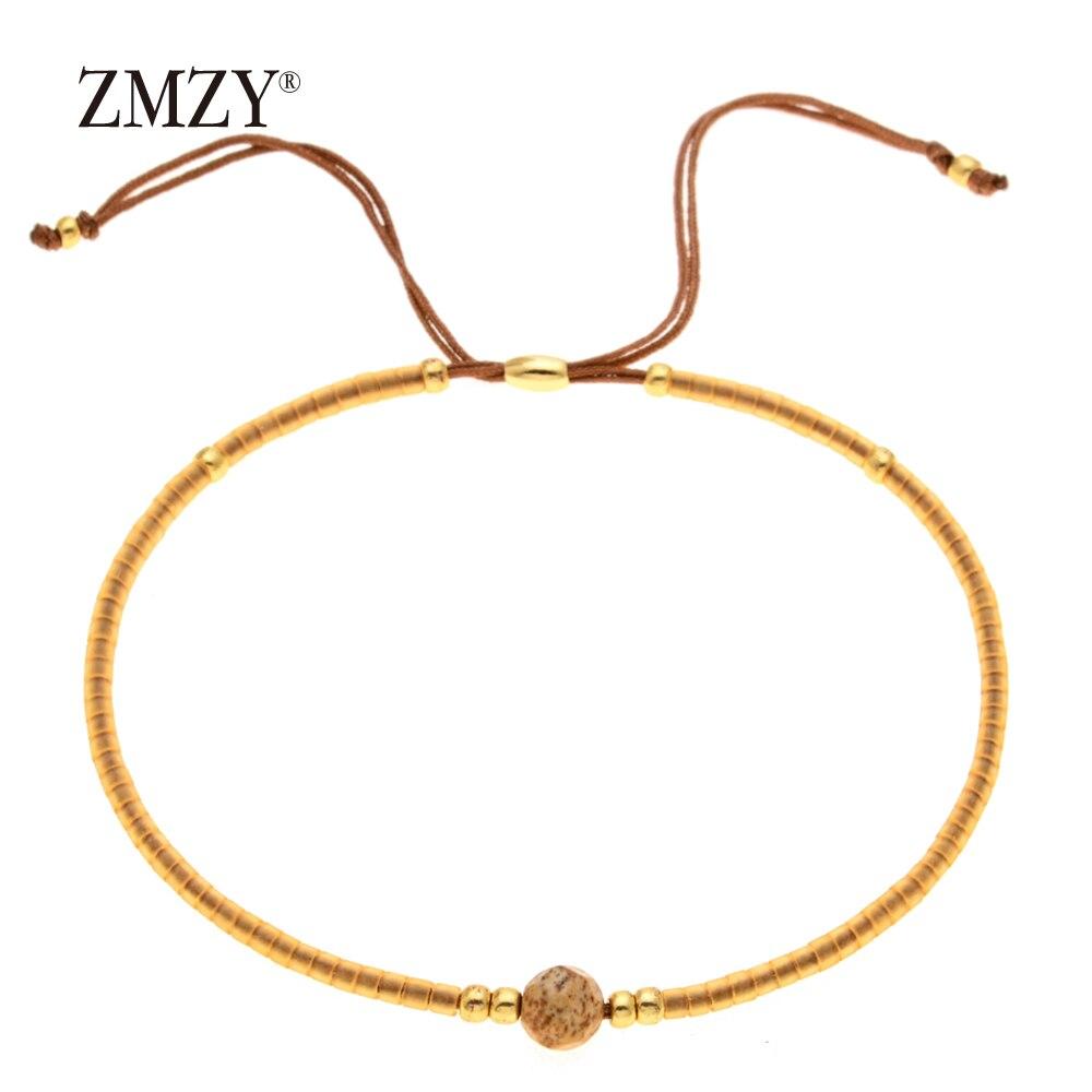 ZMZY Miyuki Delica, бисер, женские браслеты, ювелирные изделия дружбы, модные, сделай сам, Bijoux Femme, простые браслеты, Прямая поставка - Окраска металла: QSSL003-3
