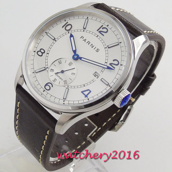 42mm Parnis Automatic Watch Luminous White Dial Mechanical Watch Classic Men Diver Watch Top Brand Luxury Men relogio masculino