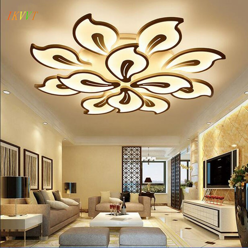 Modern Simple Led Ceiling Lights For Living Room AC85-260V Bedroom White Acrylic Plafon Led Ceiling Lamp Home Lighting Fixtures black and white round lamp modern led light remote control dimmer ceiling lighting home fixtures