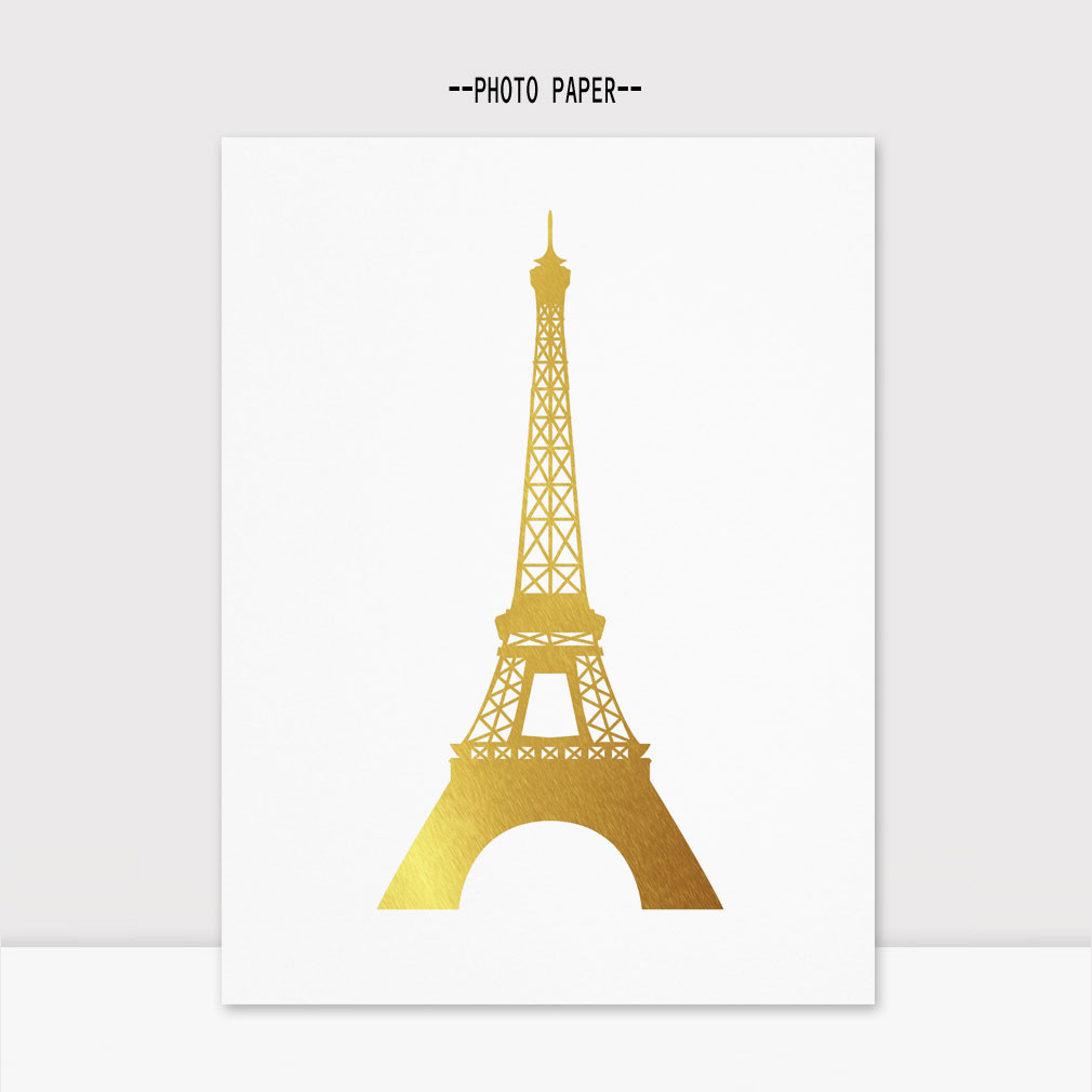 Effiel Πύργος τέχνης Χρυσό Φύλλο Effiel Tower - Διακόσμηση σπιτιού - Φωτογραφία 1