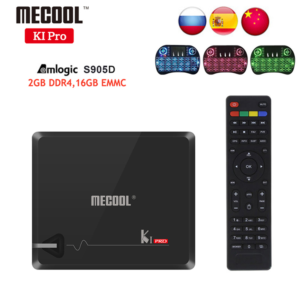 KI Pro tv box android 7.1 2GB 16GB DVB-T2 DVB-S2 Amlogic S905D Dual WIFI KI pro 4K Smart TV Box+i8 Keyboard Support Blutooth цена 2017