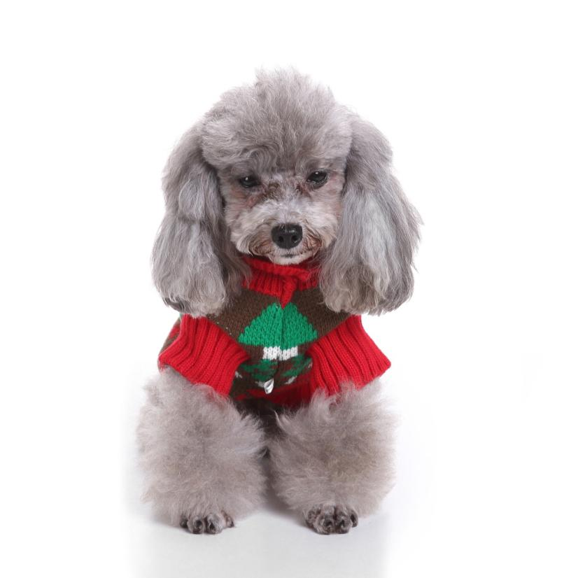 Transer Dog Sweater Pet Sweater Christmas Fashion Comfortable Pet Clothes Festival Dress Sweater Knitwear 3.28